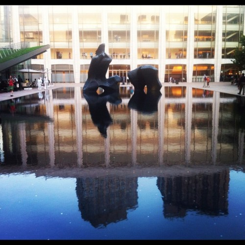 #lincoln center #water #reflection #plaza #art #beautiful #nyc #peaceful #picoftheday #photooftheday #instadm #ig_nesia #instahub #instacanv #instagood #instamood #instadaily #iphoneonly #instagramers #instagramhub #iphonegraphy  (Taken with Instagram at Lincoln Center for the Performing Arts)