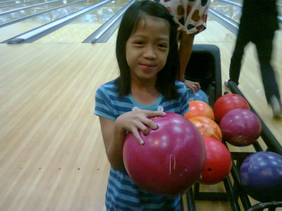 Play bowling with my family and cousins. it so light. because its just 7 poun