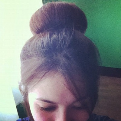 Today in a bun.  (Taken with Instagram)