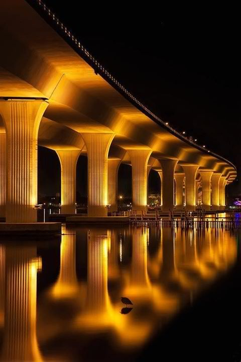 Roosevelt Bridge in Stuart, Florida. Awesome Architecture!