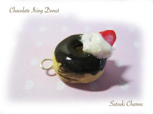 Cute chocolate donut with Strawberry cane! Hope you like it :)