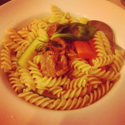 having fusilli beef pasta :9 (Taken with Instagram)