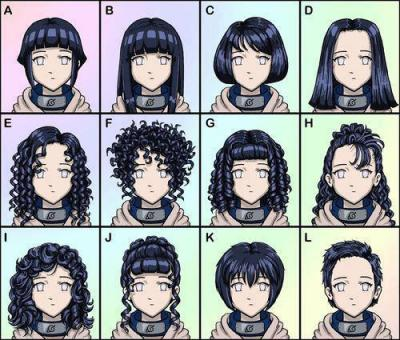 Hinata's different hairstyle! Which is the best?
