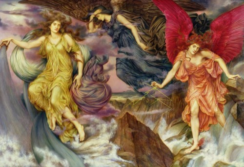 fleurdulys:  The Storm Spirits - Evelyn de Morgan 1900