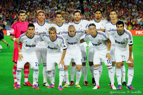 23/08/2012 Barcelona vs. Real Madrid Starting XI