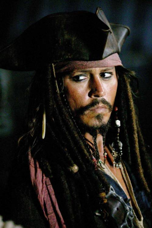 Johnny Depp as Jack Sparrow in Pirates of the Caribbean: At World's End