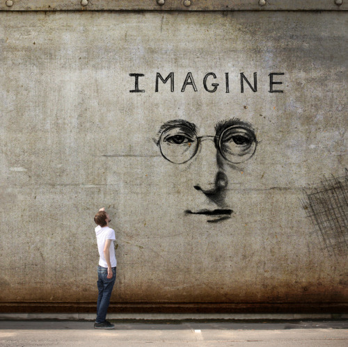 sanatkaravani:  John Lennon - Imagine by Vincent Bourilhon