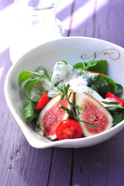 Creamy Fig Dressing with Greek Yogurt and Feta