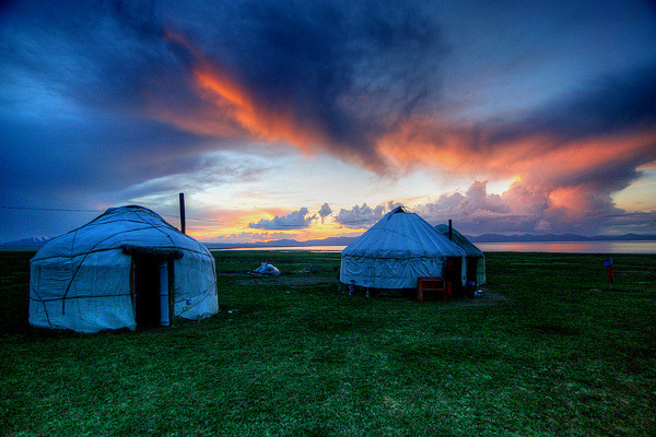 Yurt Sunset by ©haddock on Flickr.