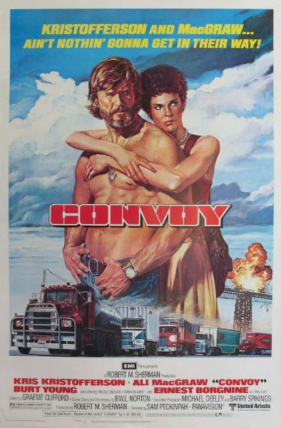 Convoy (1978) As a kid, I loved Kris Kristofferson, for two reasons. Number one: Rubber Duck. I saw this movie on Yugoslav TV in the late 80s and was mesmerized. Number two: my dad was a big fan of country music. There were a lot of country and bluegrass LPs and cassettes at our home. Kristofferson, Cash, Nelson - Outlaws. Both had taught me good values, and the importance of having a well-groomed beard.  Follow RadRecorder, join the convoy.