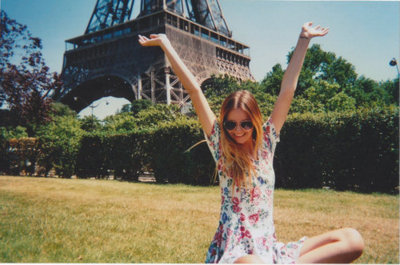 "Lily Evans in Paris with her family. Taken by Petunia Evans ""I can't believe we're in Paris!"" ""Yes thank you Lily, I hadn't worked it out yet."" ""Be nice Petunia.""  Marauders Era Many roles still open! Join us!"