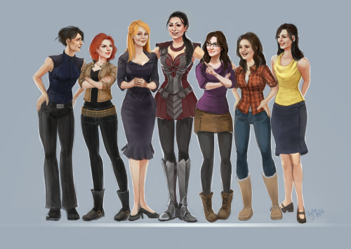 entwashian:  mizzmarvel:  vylla-art:  The Girls of Phase One. Alternate Title: Sif and her six tiny new friends.