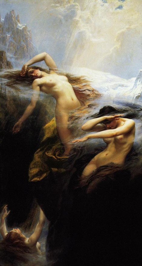 sashastergiou:  Clyties of the Mist, herbert draper