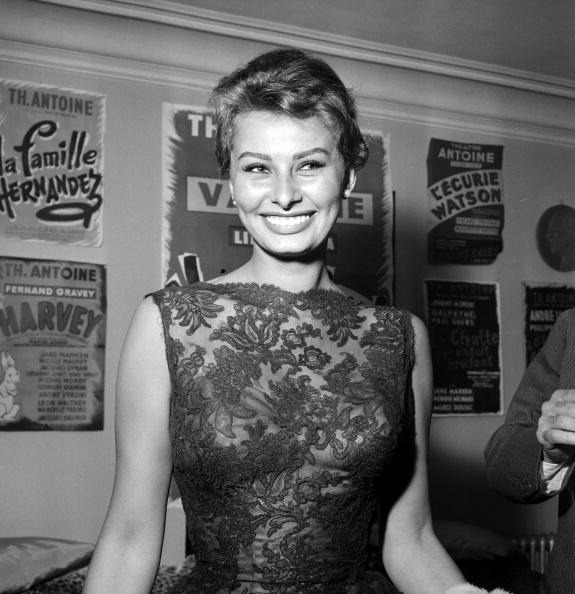 Sophia Loren at the Theatre Antoine, Paris, May 1958