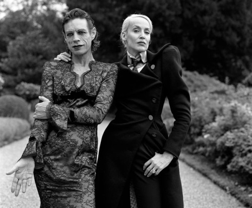 paraskiewna:  Jerry Hall and Mick by Brigitte Lacombe
