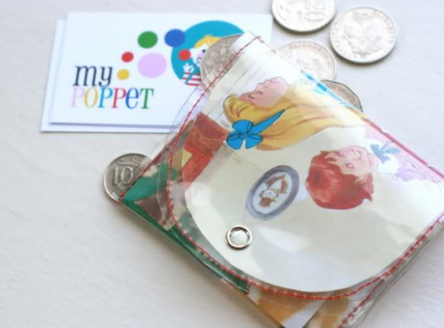 Vintage Storybook Coin Purse DIY.