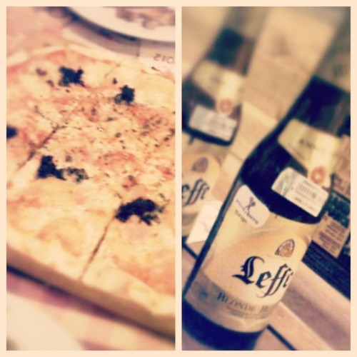Pizza and beer for dinner 😜 at pizza e' birra – View on Path.