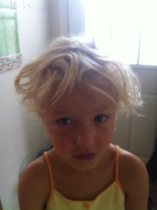Kewpie Doll bed head.