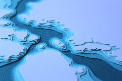 (via Papercraft Topo Maps As Modern Art)