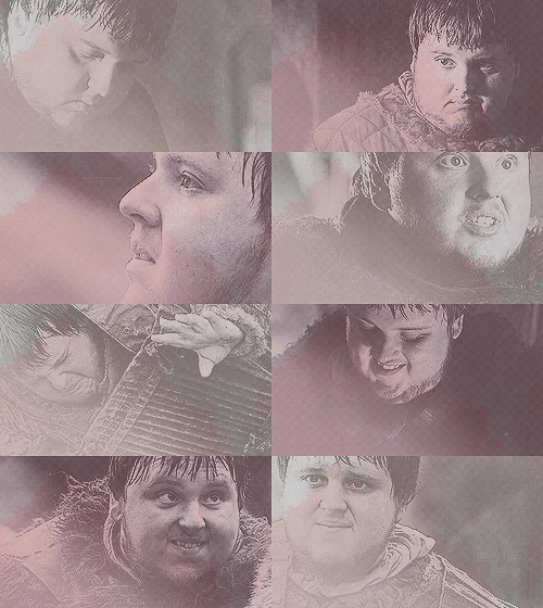 Fav GoT characters: Samwell Tarly(3/3)