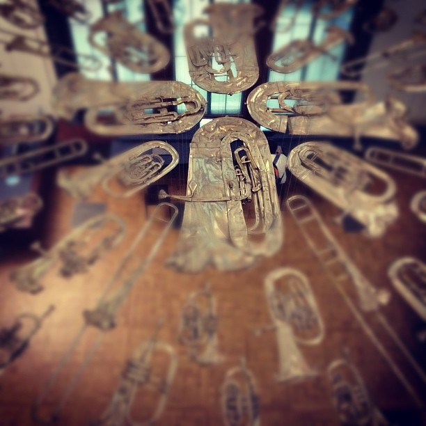 Brass section starburst.  (Taken with Instagram at Victoria and Albert Museum (V&A))