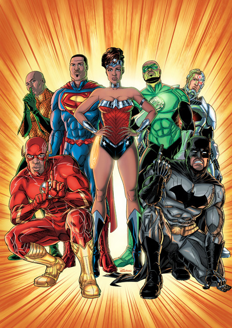 modhero:  The Justice League by Billmund  FUCKING HELL YES
