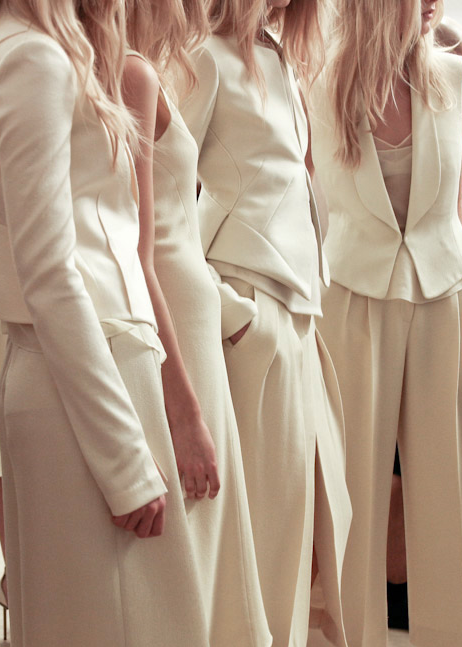 voguelovesme:  Backstage at Calvin Klein, spring/summer 2012