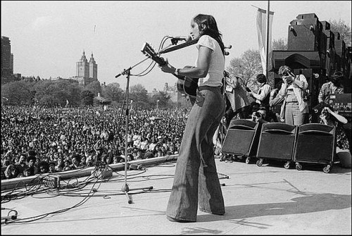 Joan Baez at the War is Over Rally in Central Park, May 1975. by Yoko Ono official on Flickr.Classic