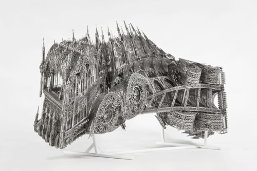 Sculpture by Wim Delvoye.