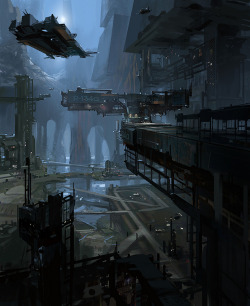tohaheavyindustries:  Skyport 2 by James Paick