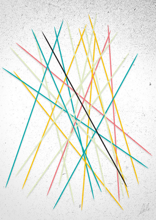Pick-up Sticks Random lazy vector of the day. Used to have lots of fun with these when I was a child. I had the wooden set, which was already considered cool back then. :))  Do kids these days still know what these are?