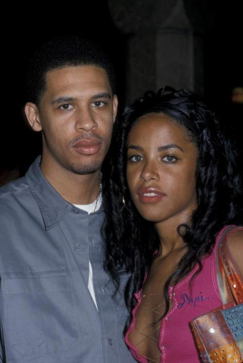 hausofkaisle:  Aaliyah and her brother Rashad.