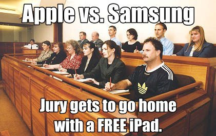 Procès Apple vs. Samsung : la photo du jury