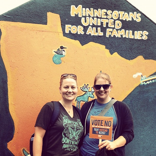 finding-joy:  These sisters are Voting No! (Taken with Instagram)  Annual State Fair Expedition: Sisters Edition!
