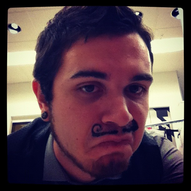 #mustache #facepaint Frenchmen  (Taken with Instagram)