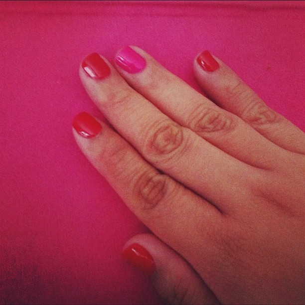 Got my nails done. #lazysaturday (Taken with Instagram at Nail Bar on Broadway)