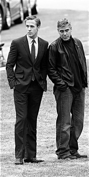 stfuturo:  George Clooney and Ryan Gosling