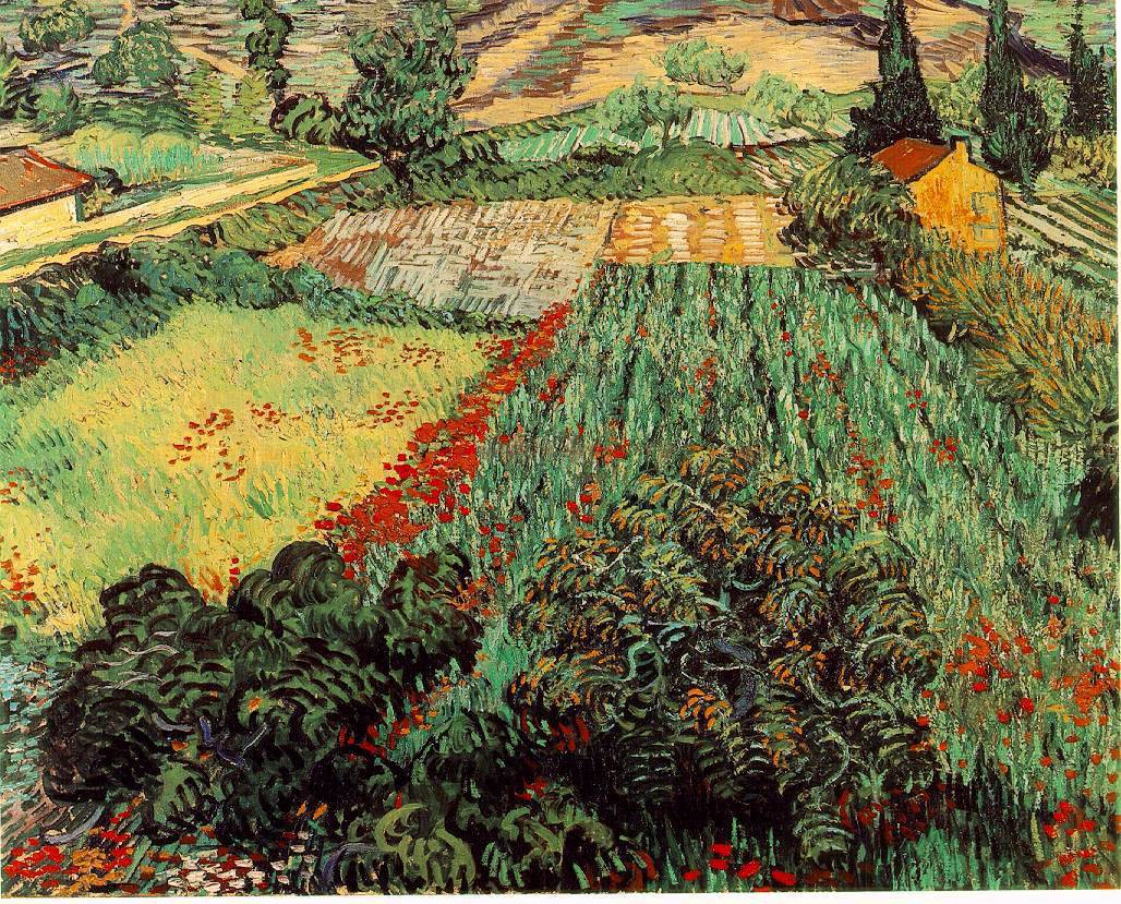 deadpaint: Vincent van Gogh, Field with Poppies