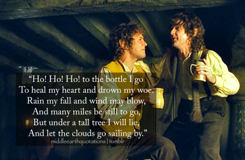 - Sung by the Hobbits on their way to Buckland, The Fellowship of the Ring, Book I, A Short Cut to Mushrooms