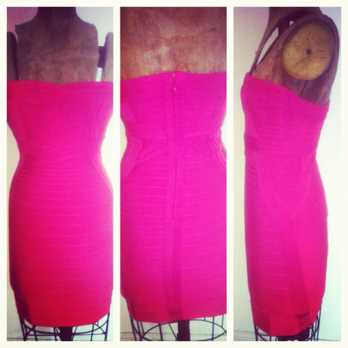 Just in time for the weekend! New Authentic Herve Leger dress now available at Paper Doll for $600.