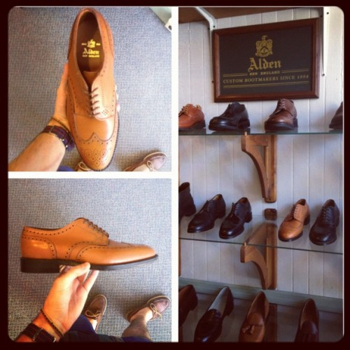 Forever love for Alden! #alden #shoes #shoeporn #brogue #brogues #style #fashion #instastyle #instafashion #stylish #menswear #mensfashion #menstyle #mensstyle #shop #shopping  (Taken with Instagram)
