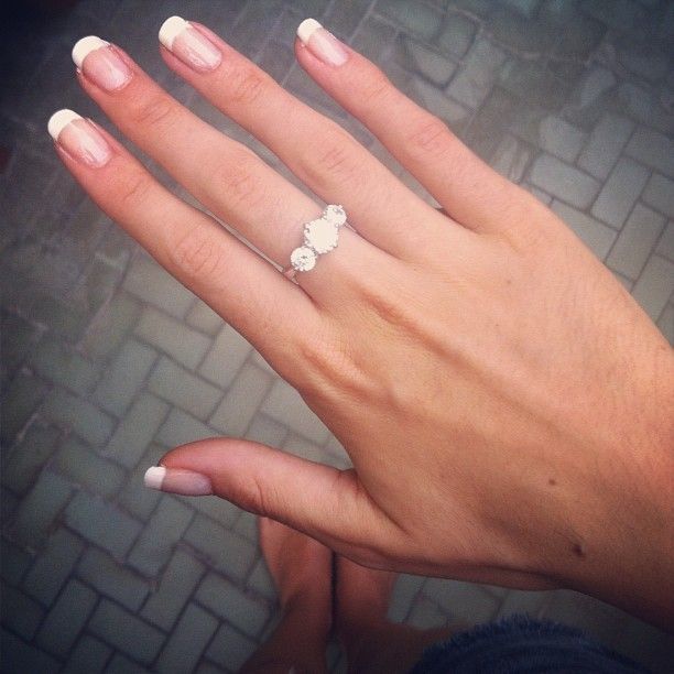 There's nothing better than a French manicure (& fake diamond rings) (Taken with Instagram)
