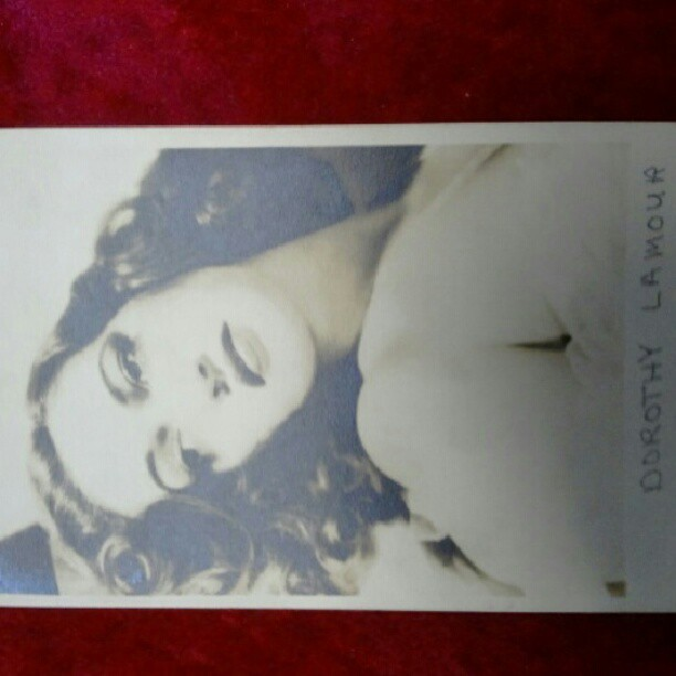 Dorthy lamour postcard from 1944 (Taken with Instagram)