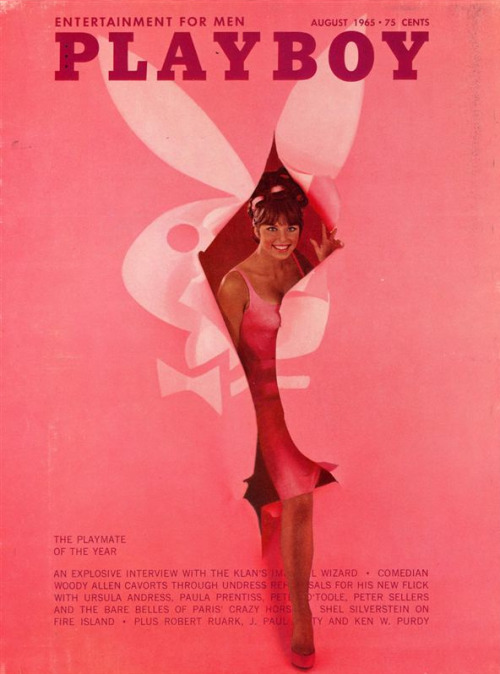August 1965 cover, featuring Playmate of the Year Jo Collins