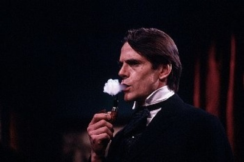 tea-at-221b:  Jeremy Irons as Sherlock Holmes Saturday Night Live sketch aired March 23, 1991 Photograph by: Owen Franken Image courtesy: Owen Franken Photography©