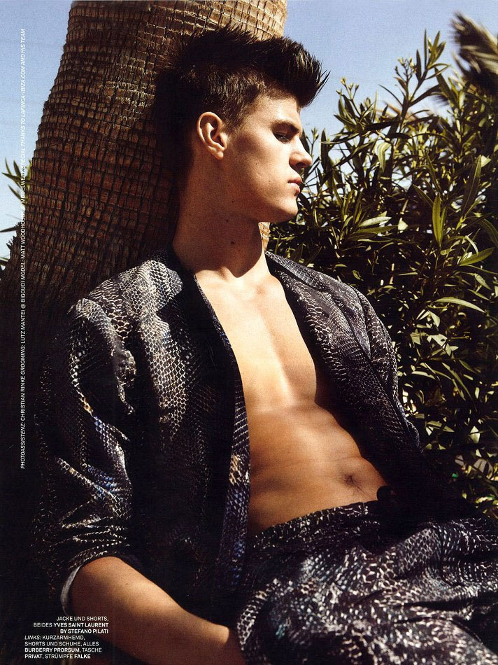 Matt Woodhouse by Stefan Heinrich for L'Officiel Hommes Germany