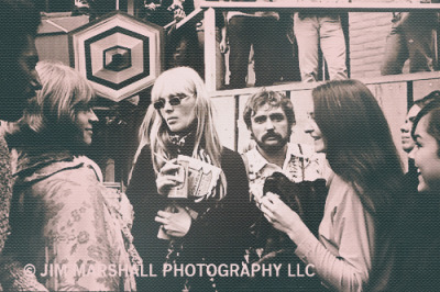 Brian Jones, Nico, Dennis Hopper, and Judy Collins at Monterey Pop