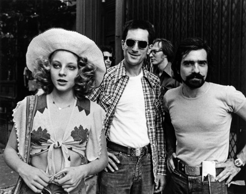 Jodie Foster, Robert DeNiro and Martin ScorseseOn the set of Taxi Driver (1976)