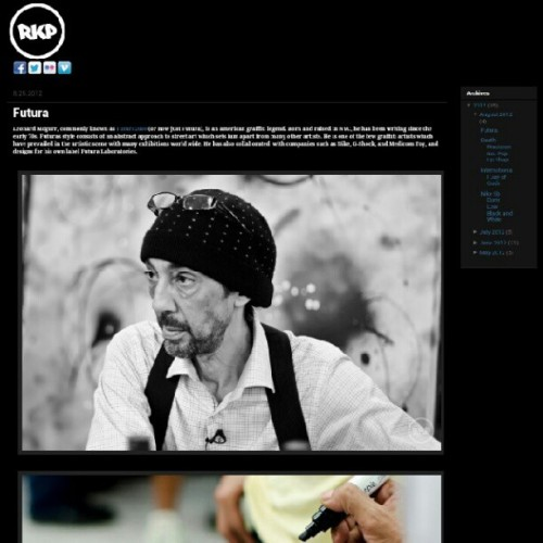 New post on the website: Futura. TheRekap.com @futuradosmil @tabathammm #futura #RKP #TheRekap #Houston #legendary #graffiti #artist (Taken with Instagram)