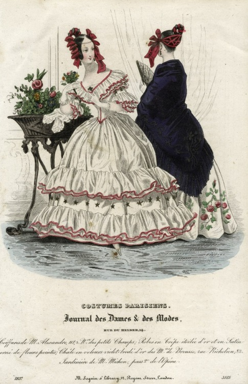 September fashions, 1837 France, Journal des Dames et des Modes